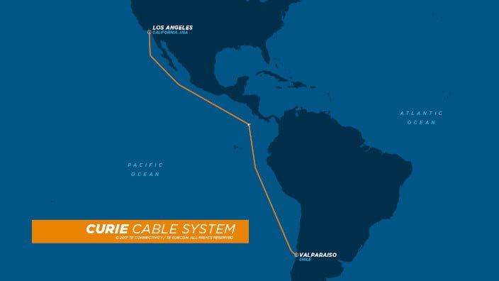 Google - Curie - Cable Submarino - Valparaiso - California