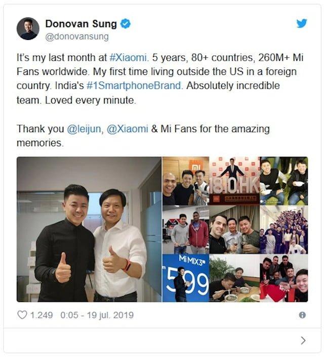 Xiaomi - Donovan Sung - Twitter