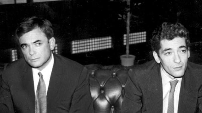 Los hijos de Robert Maxwell- Ian y Kevin Maxwell en 1991