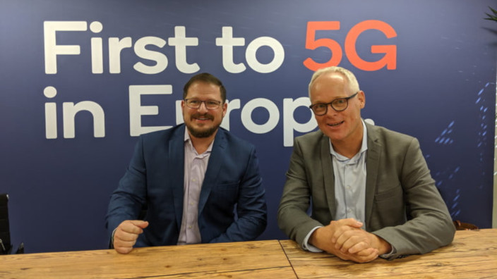 Qualcomm president Cristiano Amon - Christoph Grote SVP of Electronics BMW