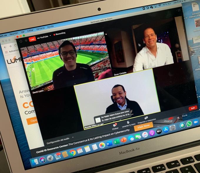 Lumu - David Lopez - Aficionado Del Futbol - Oscar Cordoba - exfutbolista Colombiano - Ricardo Villadiego - CEO y Fundador de Lumu