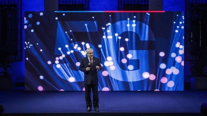 Presidente Piñera anuncia inicio de licitación de red 5G para Chile