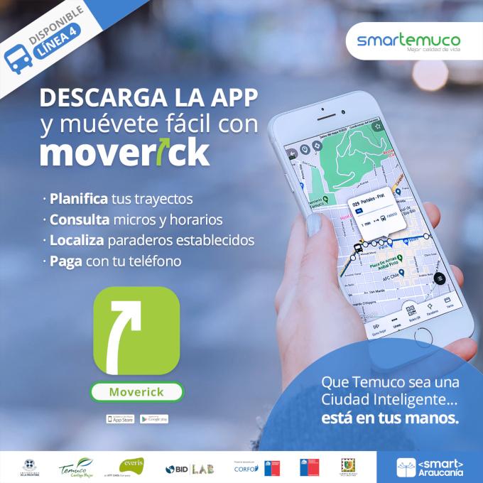 Con Moverick muévete fácil en Temuco