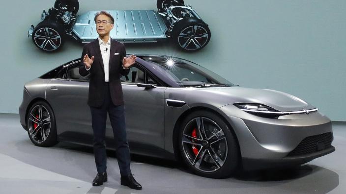 El auto concepto Vision-S de Sony está listo para ser probado en la carretera