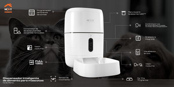 Dispensador Inteligente de alimento para mascotas de Nexxt Solutions en Chile